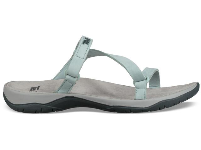 Teva Elzada Slide Leather Sandals Women gray mist